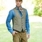 Tailor - Harris Tweed Weste in hellen Naturtönen
