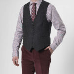 Tailor - Harris Tweed Weste in charcoal