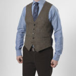 "Tailor - Harris Tweed Weste in ""evergreen"""