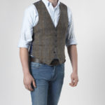 Tailor - Harris Tweed Weste in Fischgrat