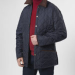 York - Herrensteppjacke in navy