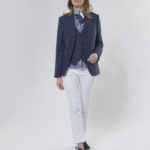 Carola - chicer Leinenblazer in navy