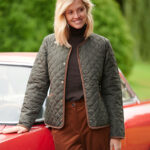 Joules - oversized Steppjacke in oliv