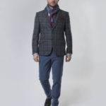 London - Harris Tweed Sakko grey Overcheck