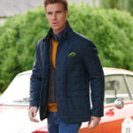 Austria - edle Jacke in blue herringbone