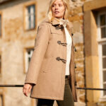 Donna - Duffelcoat aus Mehltertuche made in Germany in taupe