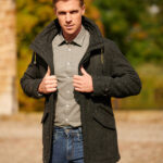 Finsbay - sportlicher Parka in Harris Tweed