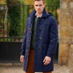 Greenrock - blauer Duffelcoat aus Mehler Tuche
