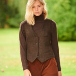Lea - Harris Tweed Weste in multicolor