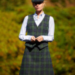 Lea - Weste in Blackwatch Harris Tweed
