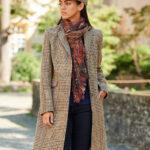 Emilia - Harris Tweed Damenmantel in Glencheck