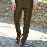 "Mr. Miller - Harris Tweed Hose in der Farbe ""Green Tweed"""