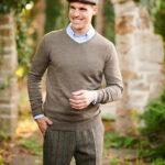 Keaton - zeitloser V-Neck Pullover aus bester Merinowolle in 3 Farben