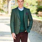 """London - authentisches Tweedsakko in der Farbe """"Green Shetland"""""""
