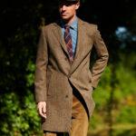 Barney - Harris Tweed Blazermantel in evergreen