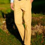 Mr. Jones - klassische Baumwollhose in gelb