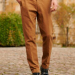 Mr. Jones - klassische Baumwollhose in orange