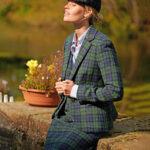 Ami - moderner Harris Tweed Blazer in blackwatch
