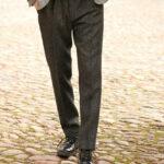 Mr. Miller - Harris Tweed Hose in charcoal